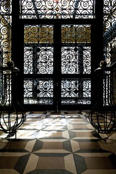 Wrought iron & floor pattern