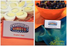 Skylanders Birthday Party Food Ideas | The Bubbly Hostess