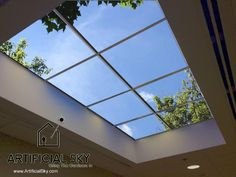 Check out http://artificialsky.com! Artificial Sky, custom ceiling art, acoustic tile sky ceilings, LED backlit sky ceilings, LED skylights and Virtual Sky ceilings and luminaires.
