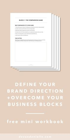 Define Your Brand Direction and Overcome Your Business  www.makesellgrow.com#blog