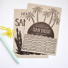San Diego Postcards   Odd Daughter Paper Co