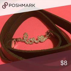 Leather wrap around bracelet love Jewelry Bracelets