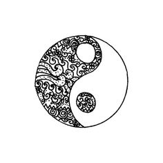 art Black and White banner yang hand-drawn yingyang ying ying and yang ❤ liked on Polyvore featuring fillers, doodles, drawings, backgrounds, circles, quotes, text, effects, round and pattern
