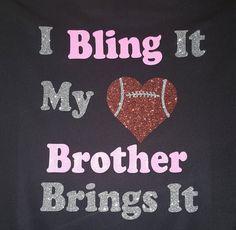 football Sister shirts bling Football Sister tee by blingspirit
