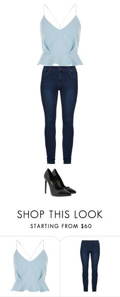 """""""Idk ✨"""" by quadivaedwards ❤ liked on Polyvore featuring River Island and Yves Saint Laurent"""