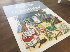 Friday's are even better when you have a huge sign delivery!  #tradeshow #signs #alisongardiner #fisherman #sign #product #madeintheuk #gouache #ink #design #illustration
