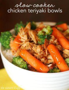 Slow Cooker Chicken Teriyaki Bowls