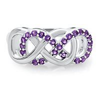 Infinity X Infinity™ Amethyst Ring in Sterling Silver