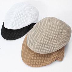 Men Women Mesh Peaked Cap Beret Golf Cabbie Ventair Outdoor Sports Hats  - Gchoic.com