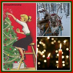 Christmas collage Vrouw&Verbinding