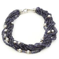 David Yurman Iolite & Pearl Multi-Row Necklace - $699.99