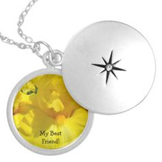 My Best Friend! gifts Locket Necklace Floral BFF Yellow IRIS FLOWER LOCKET NECKLACE gifts, IRISES Floral Necklaces, Lockets gifts for Her, Best Friends BFF, Moms, Sisters, Daughters.<br> <br> Bookmark this site for great gift ideas all year! GETTING A GIFT? COMBINE several products. Calendars, Greeting Cards, Stamps, Postage Stamps, custom Invitations, envelops, Postcards, Tote Bags, Aprons, Mugs, Mousepads, gel mouspads, Keychains, Stickers, custom Binders, Stationery, Letterhead…