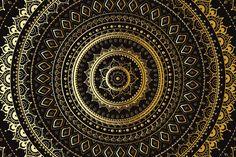 Gold Mandala set by Katyau on Creative Market