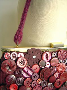 burgundy button bag - detail (by flymissy)