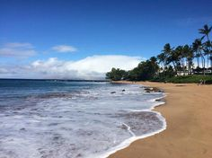 Ulua Beach, Wailea - Smaller calm beach with shade. Adjacent to paved walking path, has bathroom and showers for rinsing off.