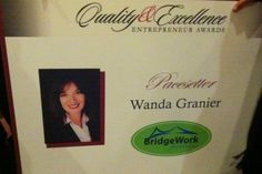 Wanda Granier of BridgeWork Partners awarded the 2011 Pacesetter Award by the Greater Dallas Hispanic Chamber of Commerce.