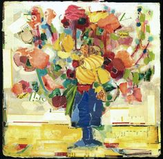 Torn Floral Bouquet Magazine Collage. via Etsy; DannyOStudio