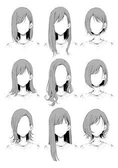Drawing Hair Tutorial, Sketches Tutorial, Anime Drawing Tutorials, Manga Tutorial, Anatomy Tutorial, Anime Drawings Sketches, Pencil Art Drawings, Anime Sketch, Easy Hair Drawings