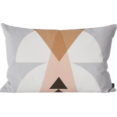 Ferm Living Inka Geometric Grey Pillow (25 KWD) ❤ liked on Polyvore featuring home, home decor, throw pillows, pillows, interior, decor, gray home decor, geometric home decor, grey accent pillows and grey toss pillows