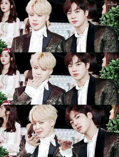 •161119 JIMIN & JIN BTS @ Melon Music Awards || #boysmeetdaesang