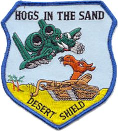 Hogs In The Sand A-10 Patch - Desert Storm