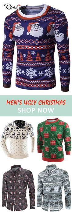 3XL Details about  /Merry Christmas And Happy New Year Men Xmas Sweatshirt Size XS
