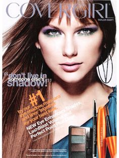 Taylor Swift, CoverGirl 2012 Makeup ll Why in the world does she have brown hair?!