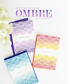 For the Love of Ombre Stationery