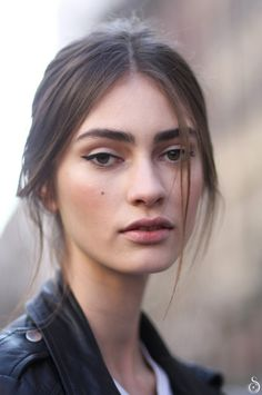 runwayandbeauty:  Marine Deleeuw after Dolce & Gabbana Fall/Winter 2014-15 by Stefano Carloni