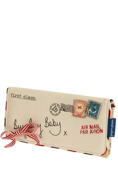 Keep You Posted Wallet by Disaster Designs. So cute!