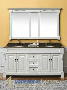 "72"" Sicily Double Bath Vanity - Antique White - TradeWindsImports"