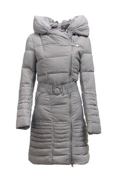 2012 Newest Moncler Women Long Down Jackets Grey [2900364] - £206.79 :
