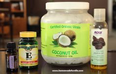 Whipped Coconut Oil - (with jojoba oil, vitamin E oil, + other essential oil of your choice)