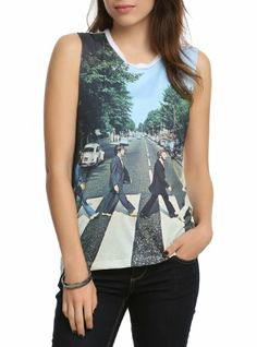 The Beatles Abbey Road Sublimation Muscle Girls Top