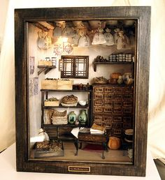 Traditional oriental Herbal Medicine Shop handmade by DollhouseAra, $629.00