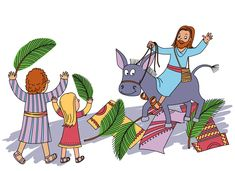 """Hi there! This is the Jesus The King Arrives story and activities lesson for preschoolers. Children learn: """"Jesus is our King"""" This is lesson 7 of 9 in the Journey to Easter series of the Growing With God Preschool Bible Study. It is the first of three Easter stories and activities. Do this lesson at home, church or school. Members download for free, so join now! Free sample and more preschool activities at CullensAbcs.com."""