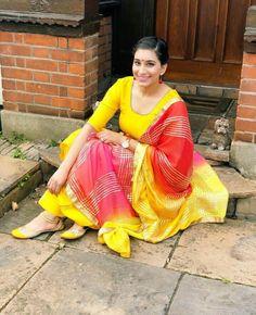 @manidrehar❤ Patiala, Punjabi Suits, Indian Designer Wear, Yellow Dress, Blouse Designs, Kurti, Casual Wear, Designer Dresses, Style Me