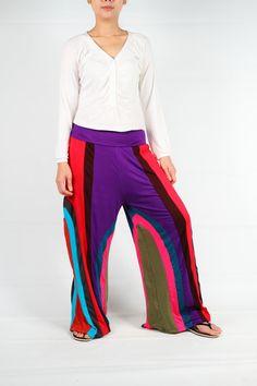 Bunte Patch Arbeit leicht ausgestelltes Bein-Hose, unisex-Hosen, Jersey Hose sowie size(SMP13)