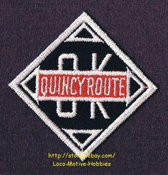 LMH PATCH Badge  QUINCY OMAHA & KANSAS CITY Railroad  OK ROUTE  QO&KC Railway picclick.com