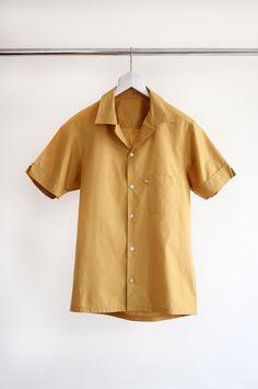 Ochre loop collar shirt