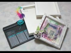 Cornice 3D-Shadow box con Envelope Punch Board-Scrapbooking Tutorial-Cor...