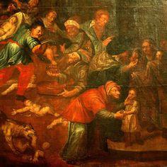 Catedral faz homenagem com pintura polêmica de judeus matando cristãos