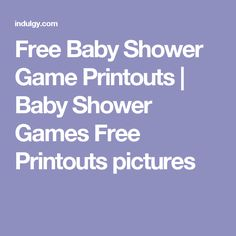 Free Baby Shower Game Printouts | Baby Shower Games Free Printouts pictures