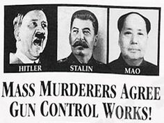 GUN CONTROL....the ones with the guns will have all the control.
