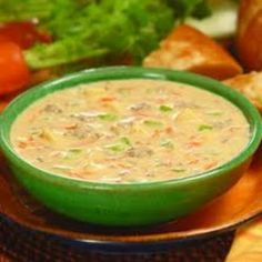 Cheeseburger Soup - Low Carb Make with grass fed beef and heavy cream.  THM - S