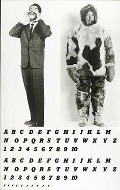 John Baldessari, Two Men with Alphabets, 1984, gift of Judy and Stuart Spence, photo © 2012 Museum Associates/LACMA