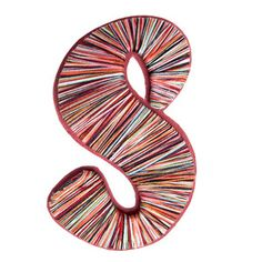 Yarn Wrapped Letter S, $12, now featured on Fab.