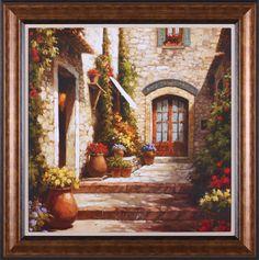 Sunlit Courtyard by Steven Harvey Framed Painting Print