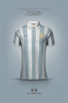 National Football kits reimagined with Local Brand sponsorship by Emilio Sansolini - Aregetina x La Martina World Football, Football Kits, Football Match, Football Jerseys, Football Uniforms, Hugo Boss, Argentina Football Team, Argentina Soccer, Camisa Retro