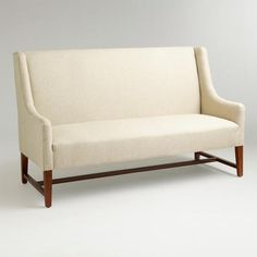 One of my favorite discoveries at WorldMarket.com: Linen Hayden Dining Banquette. [concrete color]
